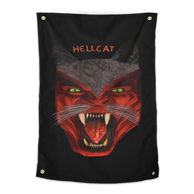 HellCat Shirts n More Home Tapestry by Leading Artist Shop