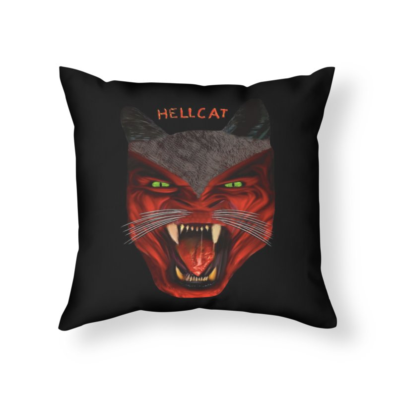 HellCat Shirts n More Home Throw Pillow by Leading Artist Shop