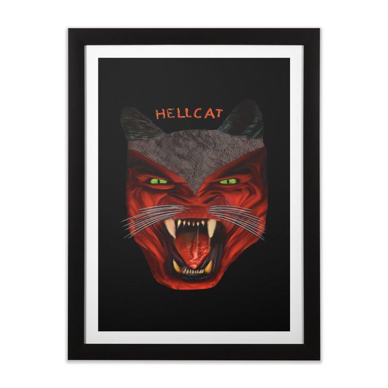HellCat Shirts n More Home Framed Fine Art Print by Leading Artist Shop