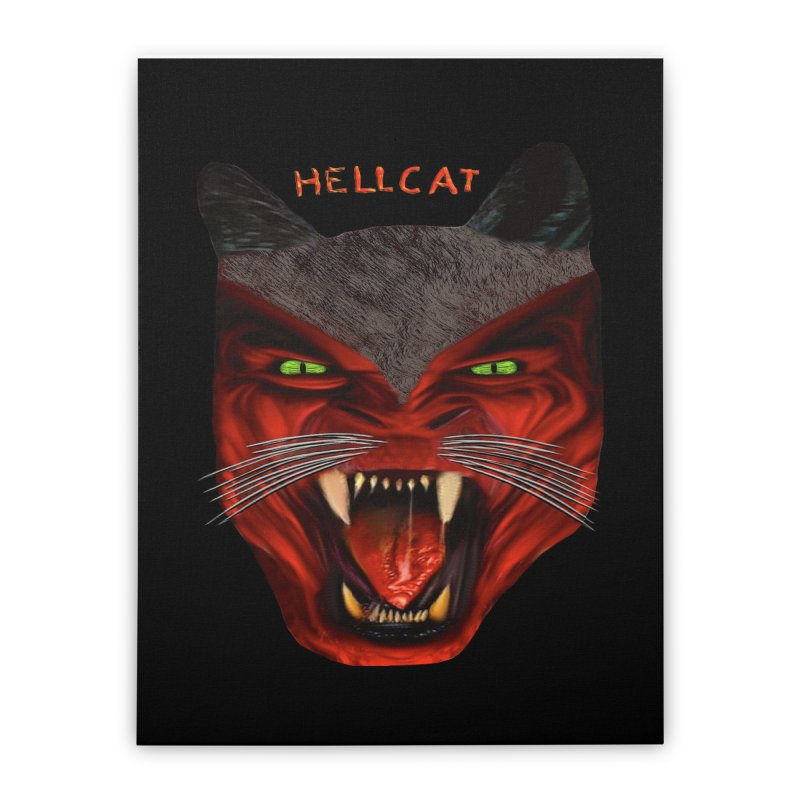 HellCat Shirts n More Home Stretched Canvas by Leading Artist Shop