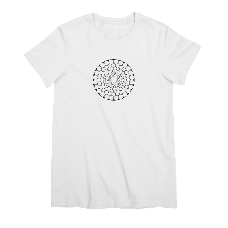 Optical Illusion Sacred Geometry Shirts Women's Premium T-Shirt by Leading Artist Shop