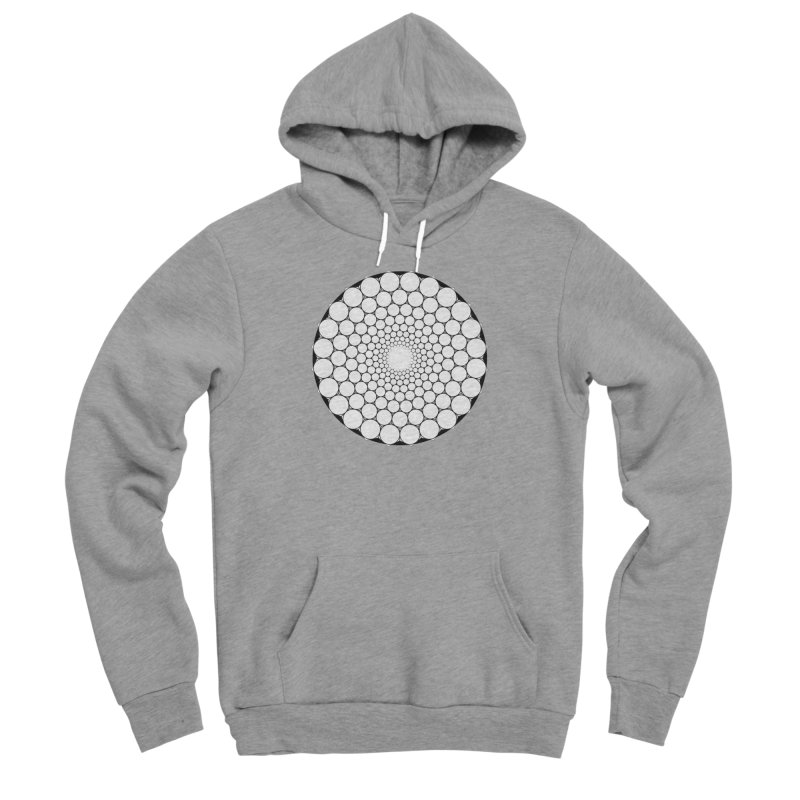 Optical Illusion Sacred Geometry Shirts Women's Sponge Fleece Pullover Hoody by Leading Artist Shop