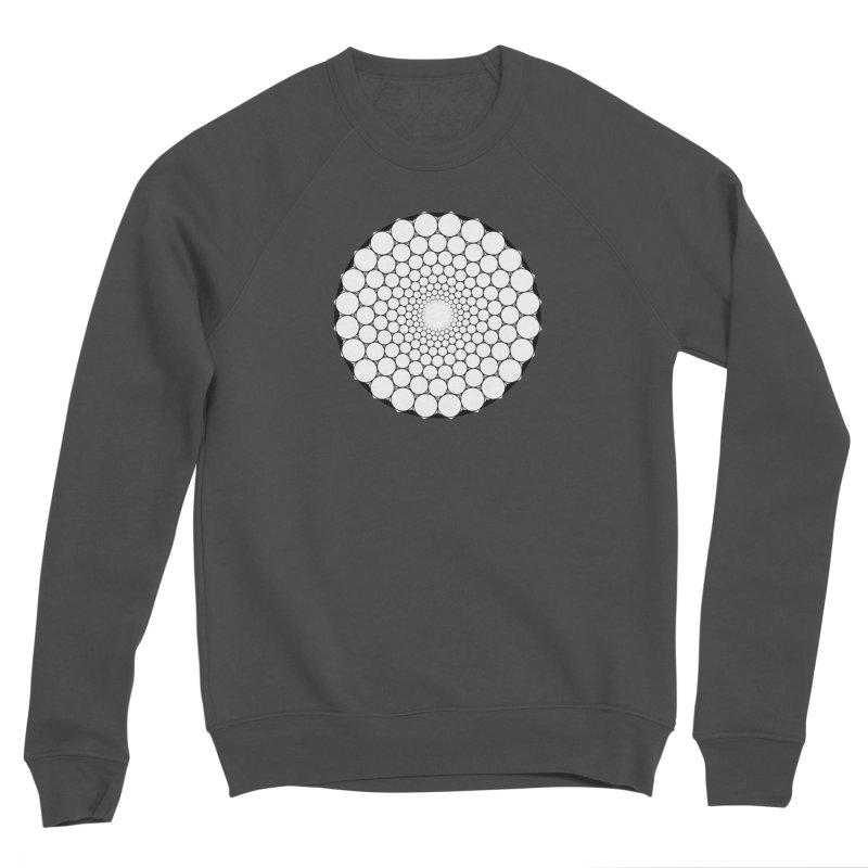 Optical Illusion Sacred Geometry Shirts Men's Sponge Fleece Sweatshirt by Leading Artist Shop