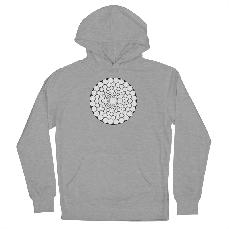Optical Illusion Sacred Geometry Shirts Men's French Terry Pullover Hoody by Leading Artist Shop