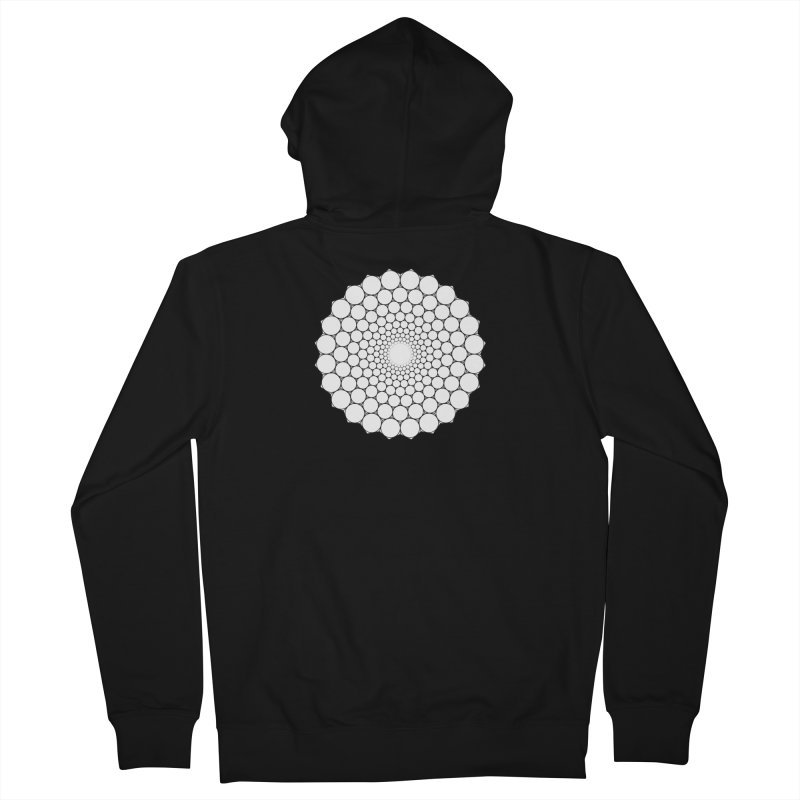 Optical Illusion Sacred Geometry Shirts Women's French Terry Zip-Up Hoody by Leading Artist Shop
