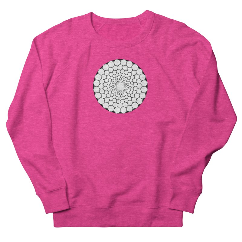 Optical Illusion Sacred Geometry Shirts Women's French Terry Sweatshirt by Leading Artist Shop