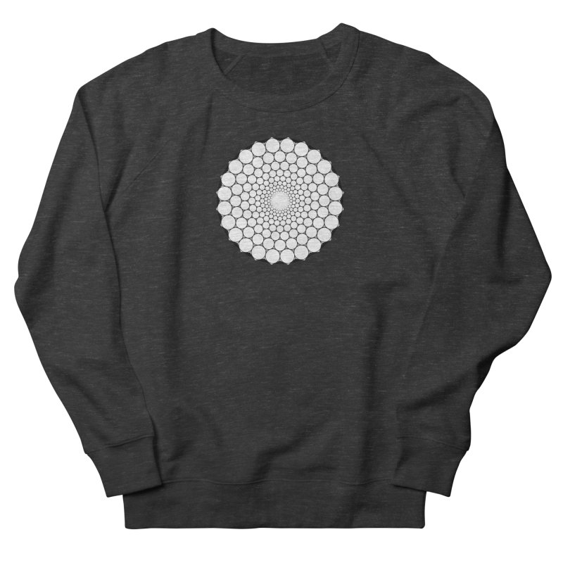 Optical Illusion Sacred Geometry Shirts Men's French Terry Sweatshirt by Leading Artist Shop