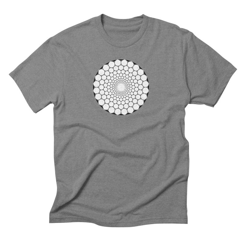 Optical Illusion Sacred Geometry Shirts Men's Triblend T-Shirt by Leading Artist Shop