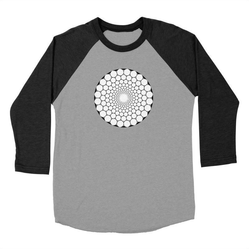 Optical Illusion Sacred Geometry Shirts Women's Baseball Triblend Longsleeve T-Shirt by Leading Artist Shop