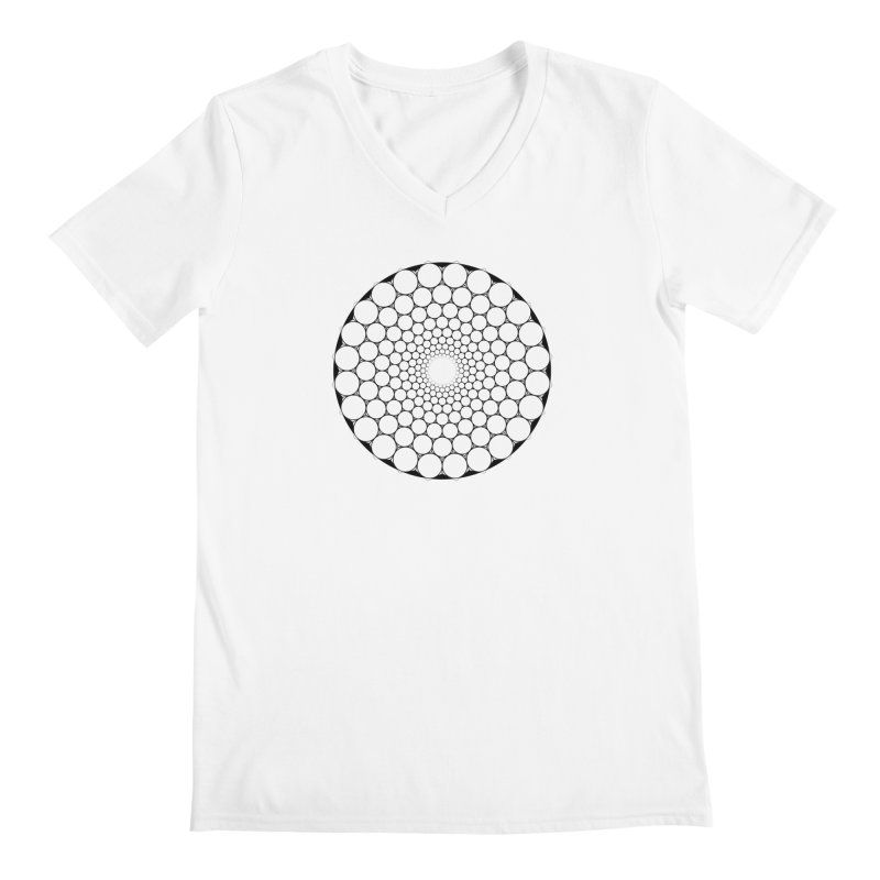 Optical Illusion Sacred Geometry Shirts Men's Regular V-Neck by Leading Artist Shop