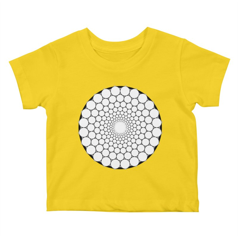 Optical Illusion Sacred Geometry Shirts Kids Baby T-Shirt by Leading Artist Shop