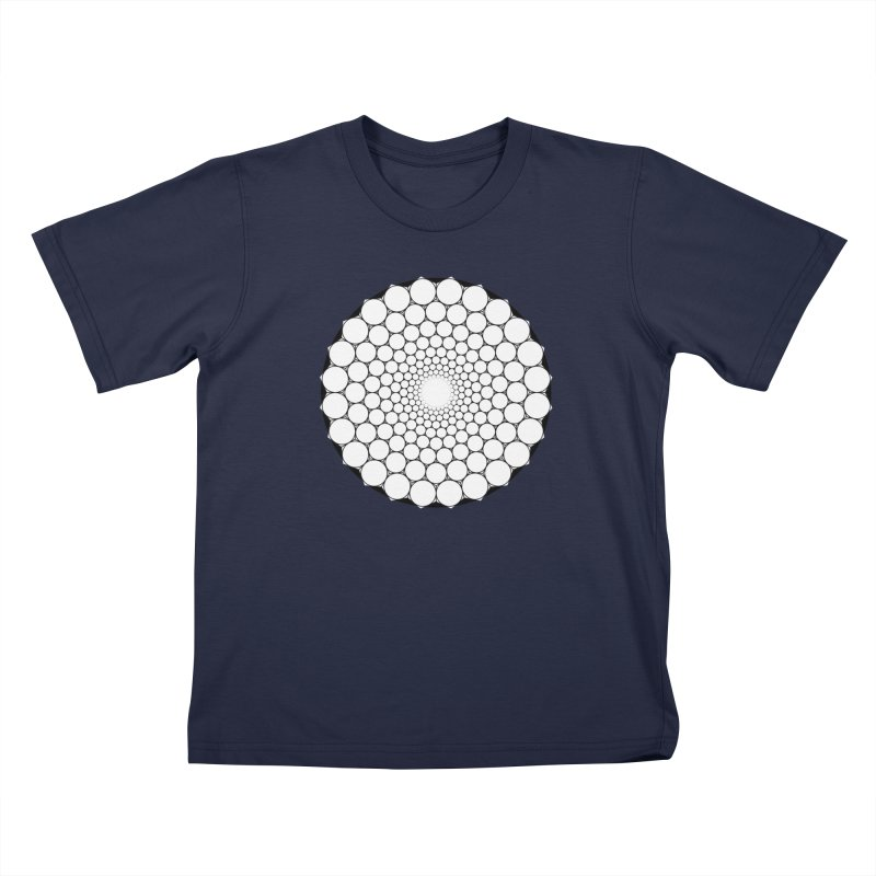Optical Illusion Sacred Geometry Shirts Kids T-Shirt by Leading Artist Shop