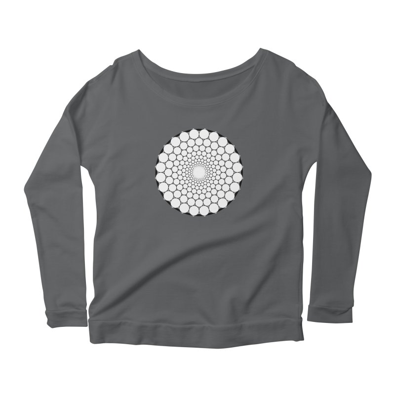 Optical Illusion Sacred Geometry Shirts Women's Scoop Neck Longsleeve T-Shirt by Leading Artist Shop