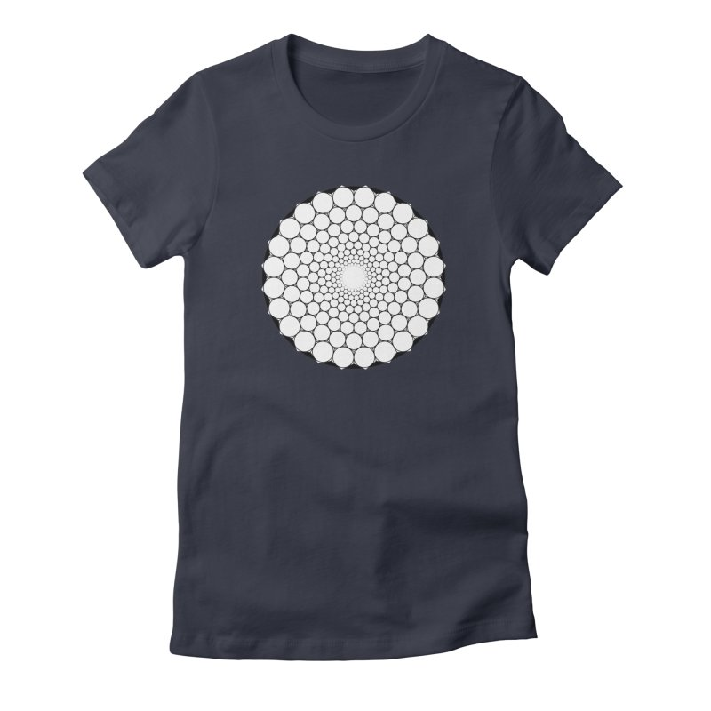 Optical Illusion Sacred Geometry Shirts Women's Fitted T-Shirt by Leading Artist Shop