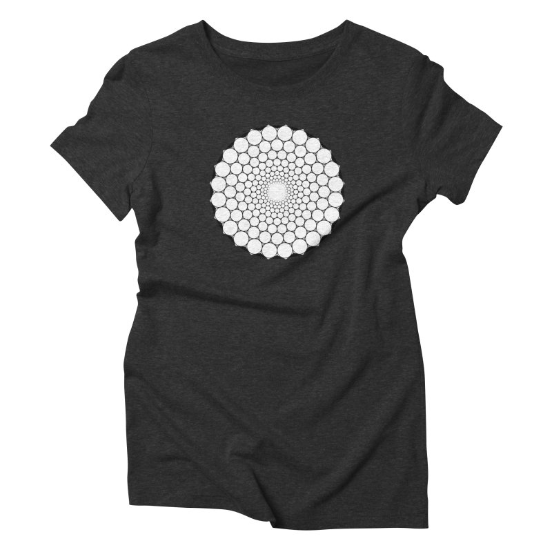 Optical Illusion Sacred Geometry Shirts Women's Triblend T-Shirt by Leading Artist Shop