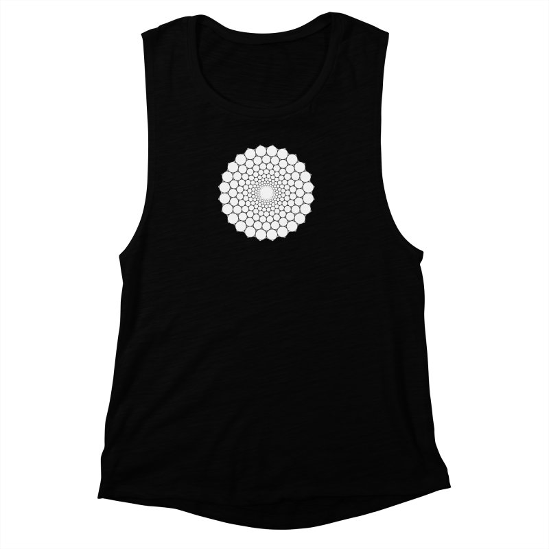 Optical Illusion Sacred Geometry Shirts Women's Muscle Tank by Leading Artist Shop