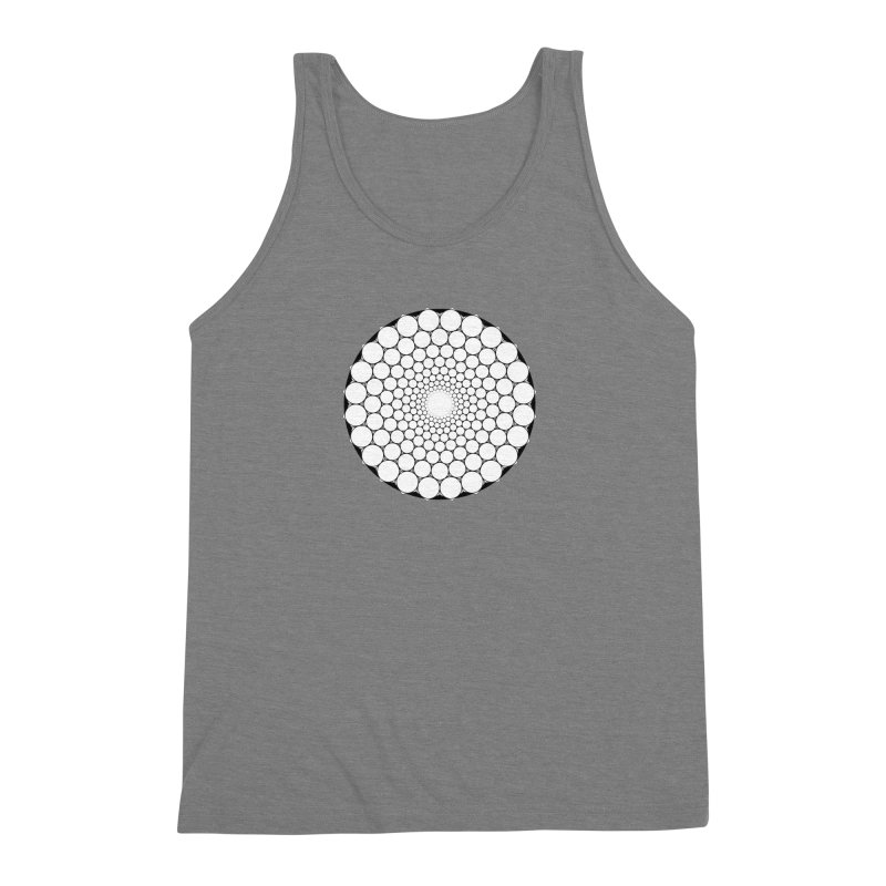 Optical Illusion Sacred Geometry Shirts Men's Triblend Tank by Leading Artist Shop