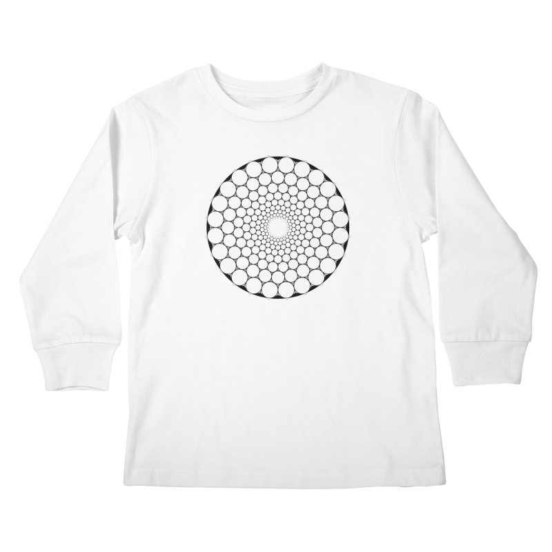 Optical Illusion Sacred Geometry Shirts Kids Longsleeve T-Shirt by Leading Artist Shop