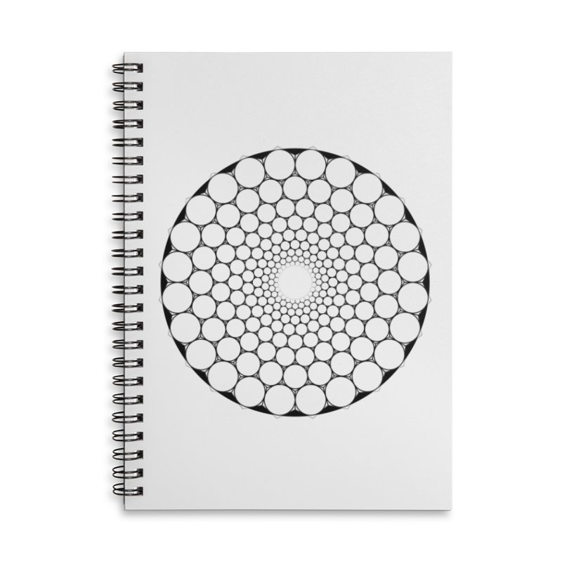 Optical Illusion Sacred Geometry Shirts Accessories Lined Spiral Notebook by Leading Artist Shop