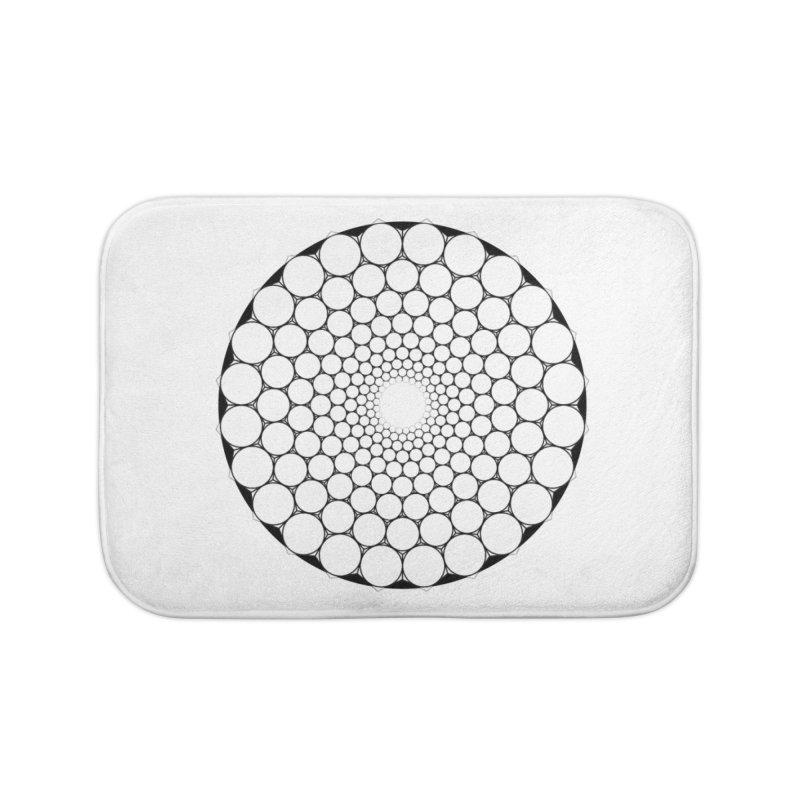 Optical Illusion Sacred Geometry Shirts Home Bath Mat by Leading Artist Shop