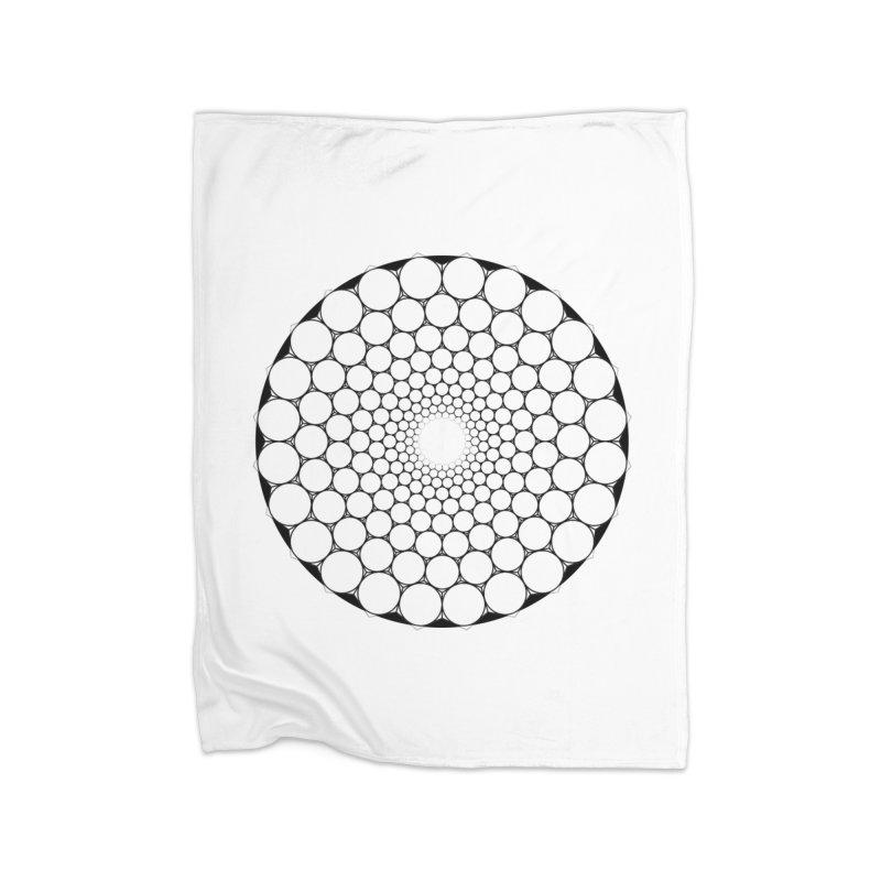 Optical Illusion Sacred Geometry Shirts Home Fleece Blanket Blanket by Leading Artist Shop