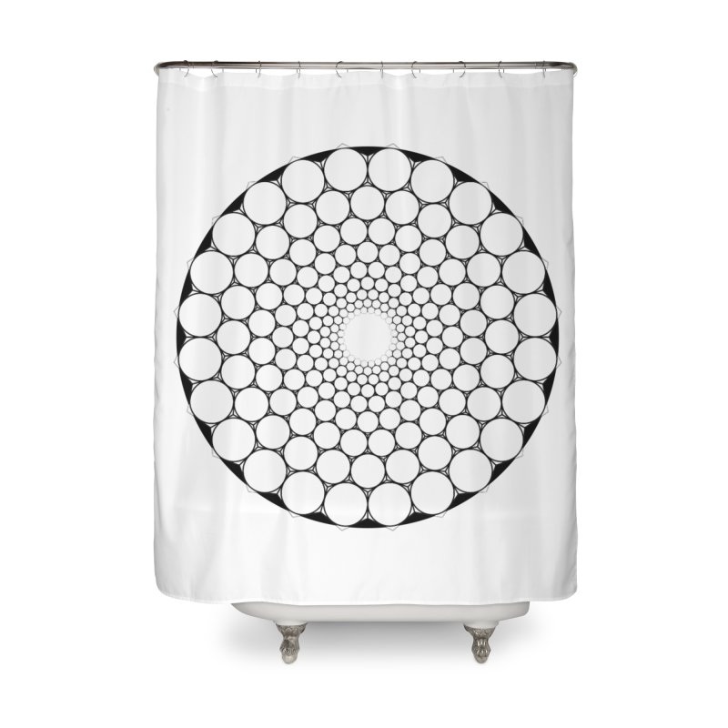 Optical Illusion Sacred Geometry Shirts Home Shower Curtain by Leading Artist Shop