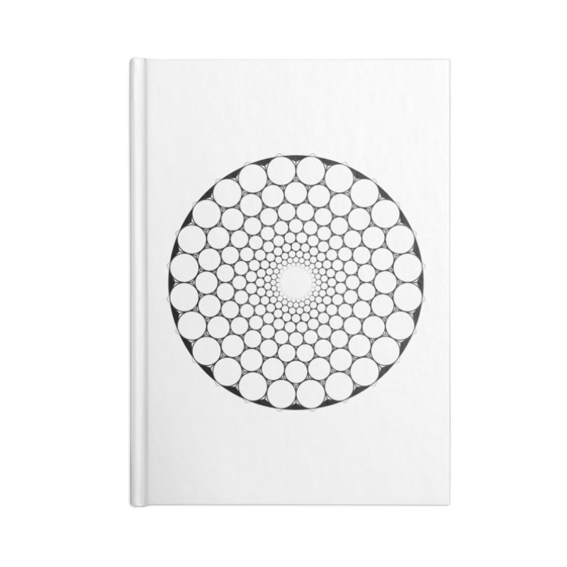 Optical Illusion Sacred Geometry Shirts Accessories Lined Journal Notebook by Leading Artist Shop