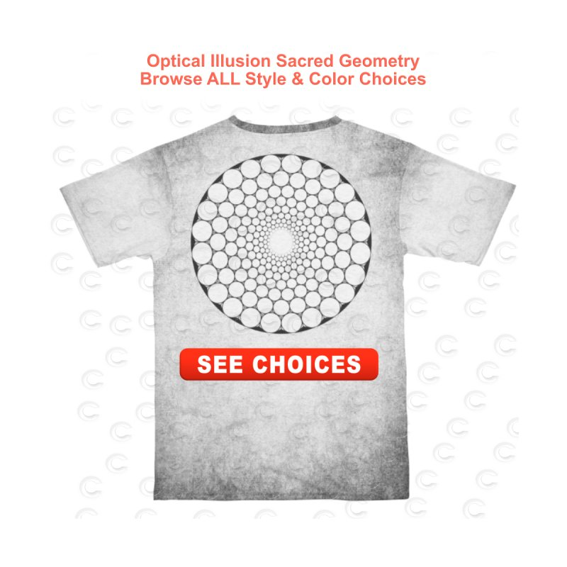 Optical Illusion Sacred Geometry Shirts Accessories Sticker by Leading Artist Shop