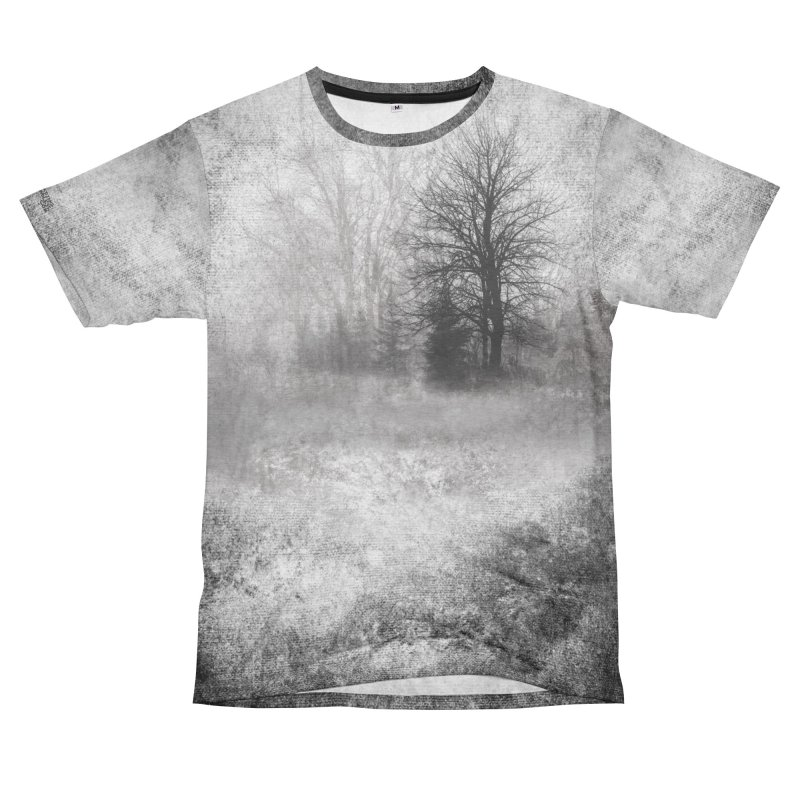 Foggy Woods Shirt Women's Unisex French Terry T-Shirt Cut & Sew by Leading Artist Shop