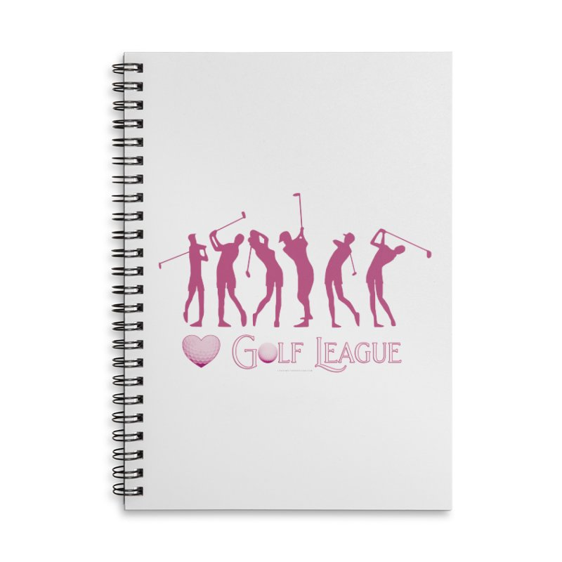 Women's Golf League Shirts n More Accessories Lined Spiral Notebook by Leading Artist Shop