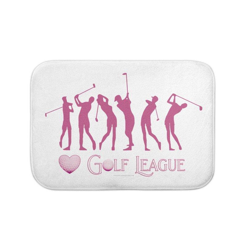 Women's Golf League Shirts n More Home Bath Mat by Leading Artist Shop
