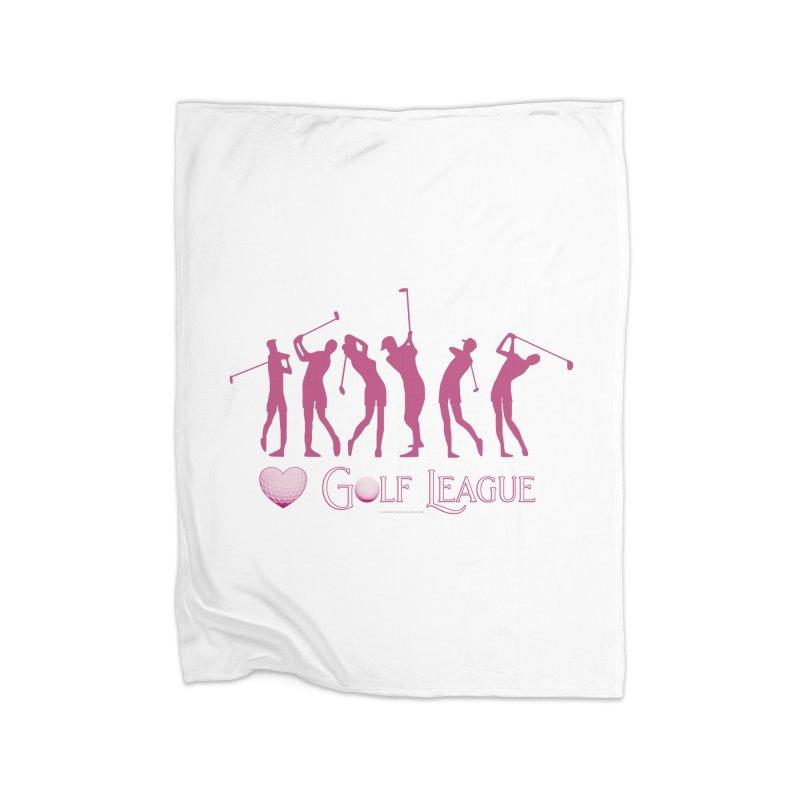 Women's Golf League Shirts n More Home Fleece Blanket Blanket by Leading Artist Shop