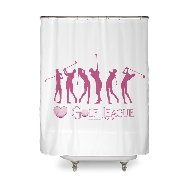 Women's Golf League Shirts n More Home Shower Curtain by Leading Artist Shop