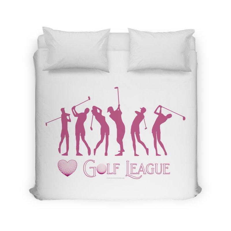 Women's Golf League Shirts n More Home Duvet by Leading Artist Shop