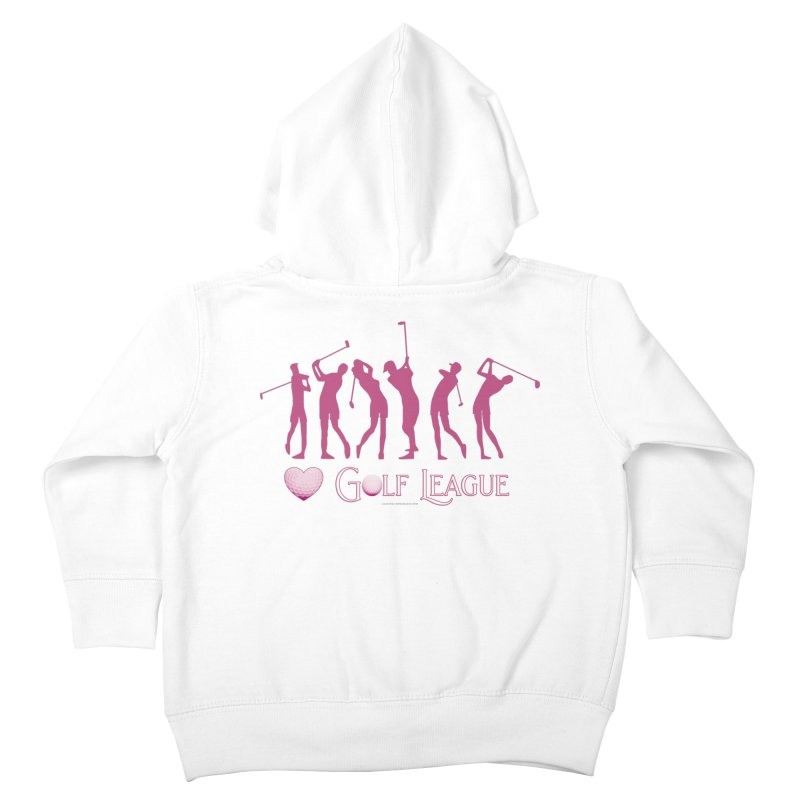 Women's Golf League Shirts n More Kids Toddler Zip-Up Hoody by Leading Artist Shop