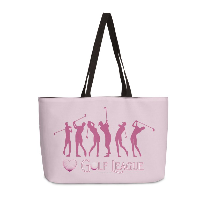 Women's Golf League Shirts n More Accessories Weekender Bag Bag by Leading Artist Shop