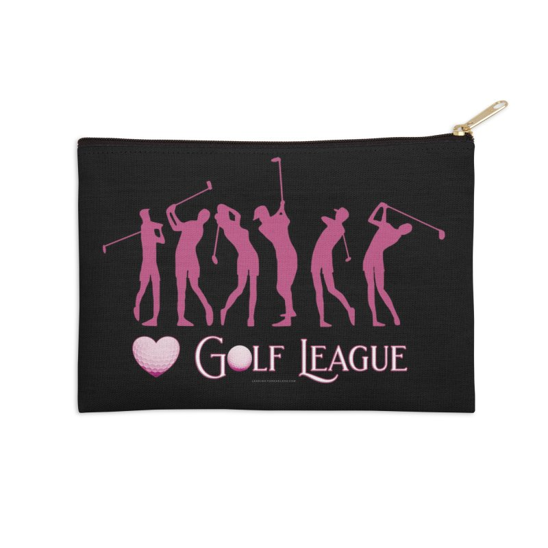 Women's Golf League Shirts n More Accessories Zip Pouch by Leading Artist Shop