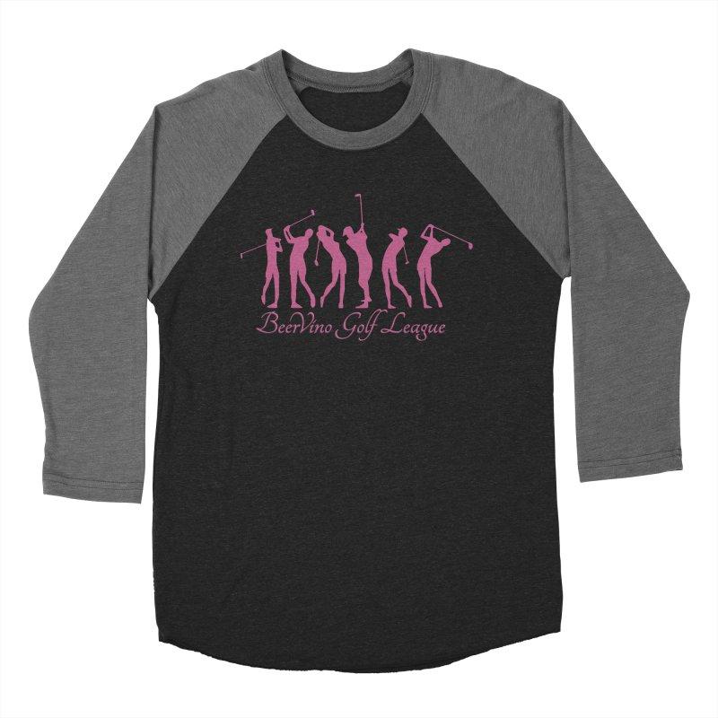 BerVino Golf League Women's Baseball Triblend Longsleeve T-Shirt by Leading Artist Shop