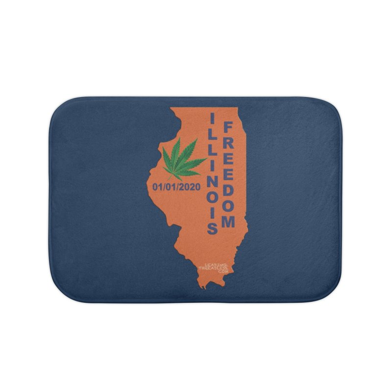 Illinois Marijuana Freedom Shirt Home Bath Mat by Leading Artist Shop