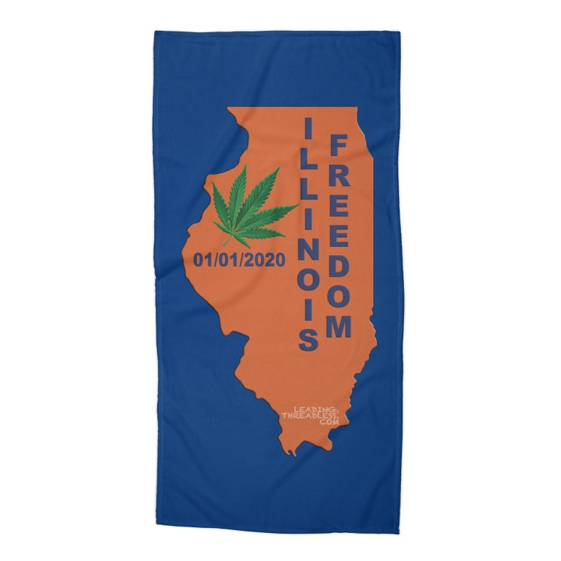 Illinois Marijuana Freedom Shirt Accessories Beach Towel by Leading Artist Shop