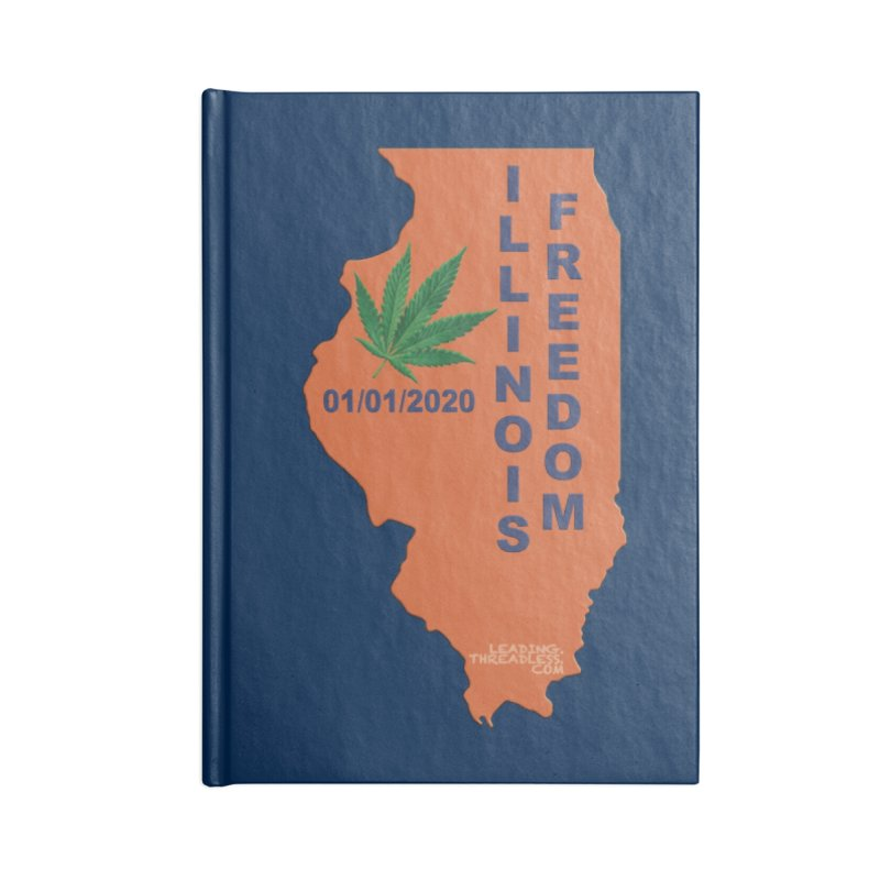 Illinois Marijuana Freedom Shirt Accessories Lined Journal Notebook by Leading Artist Shop