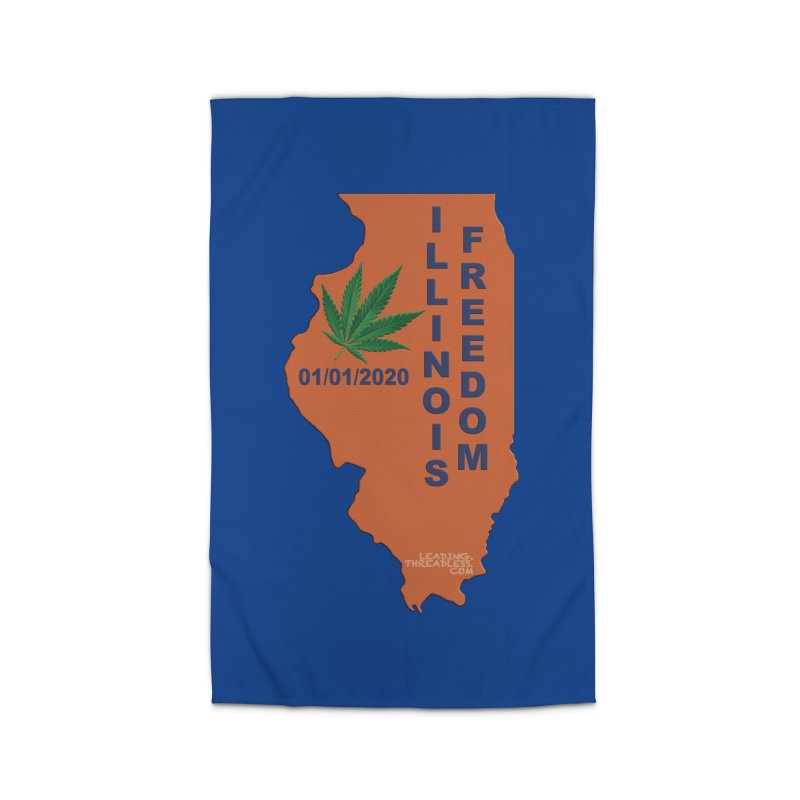 Illinois Marijuana Freedom Shirt Home Rug by Leading Artist Shop