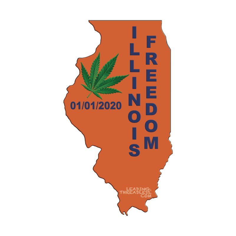 Illinois Marijuana Freedom Shirt by Leading Artist Shop