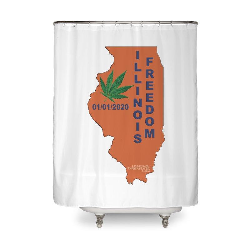 Illinois Marijuana Freedom Shirt Home Shower Curtain by Leading Artist Shop