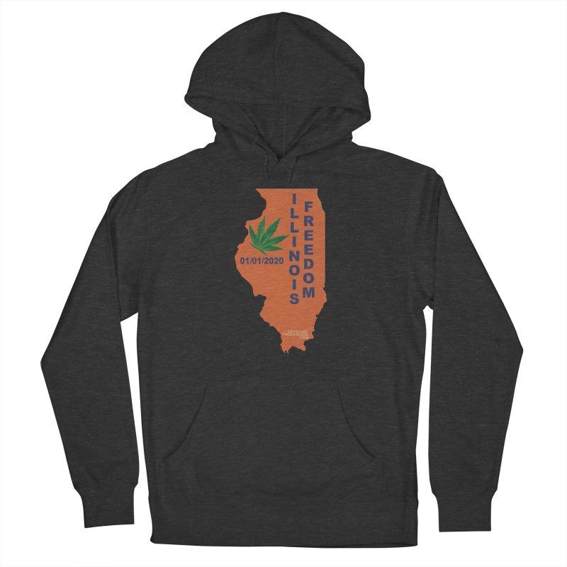 Illinois Marijuana Freedom Shirt Women's French Terry Pullover Hoody by Leading Artist Shop