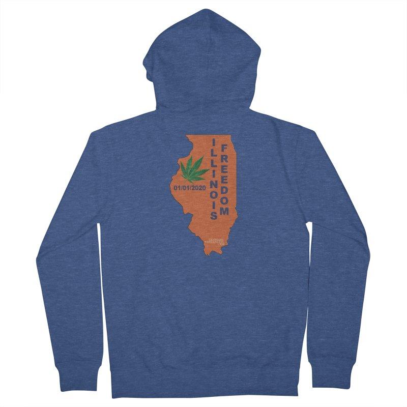 Illinois Marijuana Freedom Shirt Men's French Terry Zip-Up Hoody by Leading Artist Shop