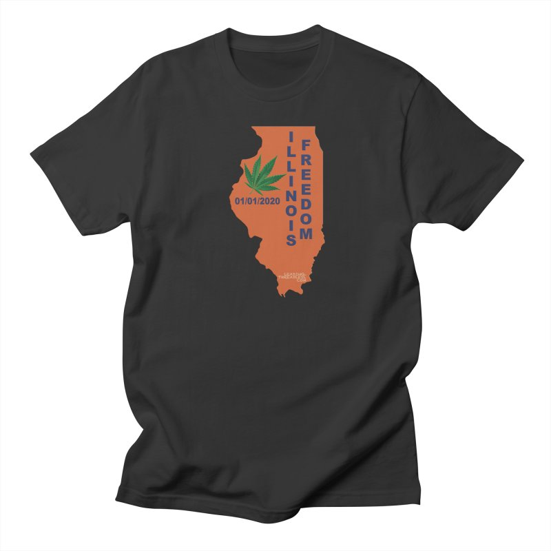 Illinois Marijuana Freedom Shirt Men's Regular T-Shirt by Leading Artist Shop