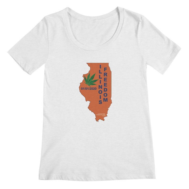 Illinois Marijuana Freedom Shirt Women's Regular Scoop Neck by Leading Artist Shop