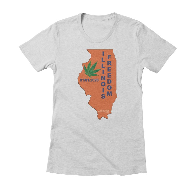 Illinois Marijuana Freedom Shirt Women's Fitted T-Shirt by Leading Artist Shop