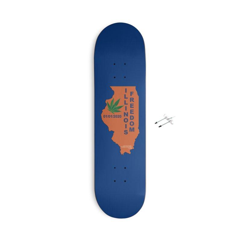 Illinois Marijuana Freedom Shirt Accessories With Hanging Hardware Skateboard by Leading Artist Shop